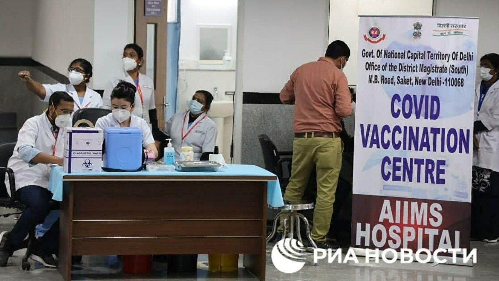От коронавируса в Индии привились за сутки свыше 8 млн человек