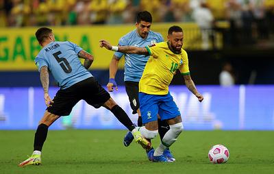 Сборная Бразилии по футболу разгромила команду Уругвая в матче отбора на чемпионат мира